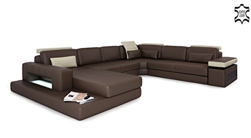 ledersofa u form braun ledercouch augsburg m bel24. Black Bedroom Furniture Sets. Home Design Ideas