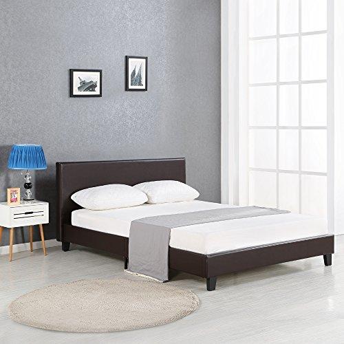 iKayaa Polsterbett Doppelbett Bett ohne Matratze für 140x200/160x200/180x200 2 Farbe Optional