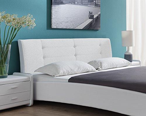 sam polsterbett 90x200 cm bastia wei pflegeleichtes design bett mit kunstlederbezug stoff. Black Bedroom Furniture Sets. Home Design Ideas