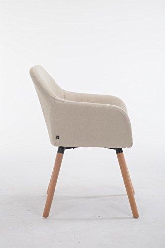 clp besucher stuhl achat v2 mit armlehne max belastbarkeit 150 kg holz gestell stoff bezug. Black Bedroom Furniture Sets. Home Design Ideas