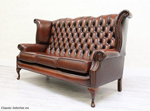 chesterfield chippendale sofa leder antik vintage barock m bel24. Black Bedroom Furniture Sets. Home Design Ideas