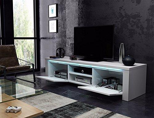 tv schrank lowboard sideboard conoy mit led schwarz matt schwarz hochglanz m bel24. Black Bedroom Furniture Sets. Home Design Ideas