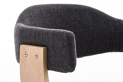 clp besucher stuhl barrie v2 stoff natura mit armlehne gepolstert holzgestell modern. Black Bedroom Furniture Sets. Home Design Ideas