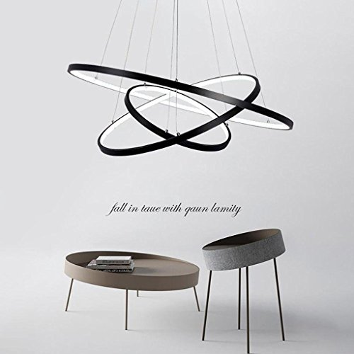 72w led pendelleuchte esstisch modern drei ring design lampe innen beleuchtung h ngelampe acryl. Black Bedroom Furniture Sets. Home Design Ideas