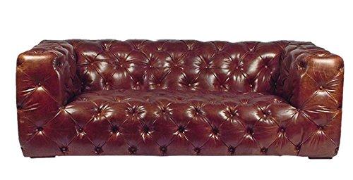 Vintage Sofa Aviator Ledersofa 180 braun
