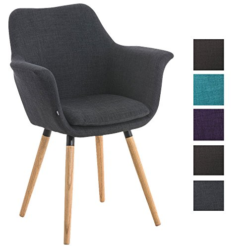 Clp besucher stuhl vance holzgestell stoff bezug for Polsterstuhl grau