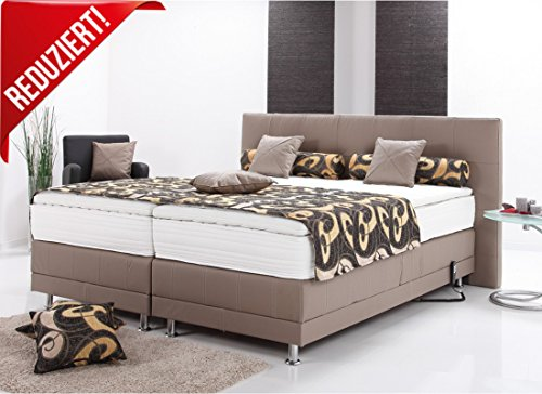 boxspringbett echtlederbett polsterbett elektrisch mit motor inklusive topper m bel24. Black Bedroom Furniture Sets. Home Design Ideas