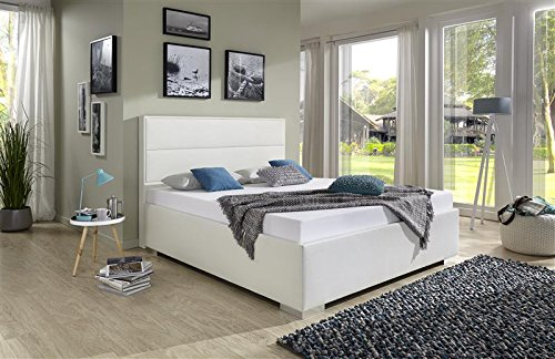 breckle polsterbett bett 140 x 200 cm caplas bavaria 38 cm h he st rke 6 cm b ndig leder optik. Black Bedroom Furniture Sets. Home Design Ideas
