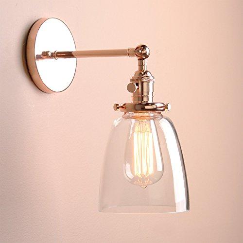 Buyee modern wandleuchte vintage industrial metal finish glasschirm loft wandleuchte wandlampe - Wandleuchte vintage ...