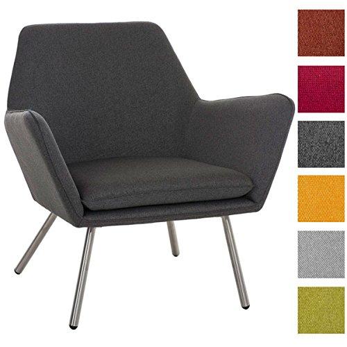 clp design edelstahl lounge sessel caracas stoffbezug polsterst rke 6 cm sitzh he 40 cm m bel24. Black Bedroom Furniture Sets. Home Design Ideas