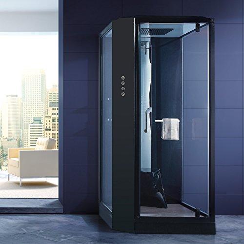 dampfdusche siena schwarz dampf dusche duschkabine dampfbad duschtempel dampfsauna sauna. Black Bedroom Furniture Sets. Home Design Ideas