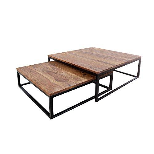 design couchtisch 2er set big fusion sheesham stone finish. Black Bedroom Furniture Sets. Home Design Ideas