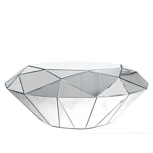 Design couchtisch diamond spiegelglas facetten design for Glastisch couchtisch design