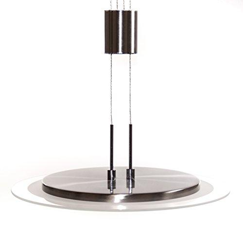 design smd led pendelleuchte echt glas edelstahl geb rstet 96 led s 19 2 w warmwei lampe. Black Bedroom Furniture Sets. Home Design Ideas