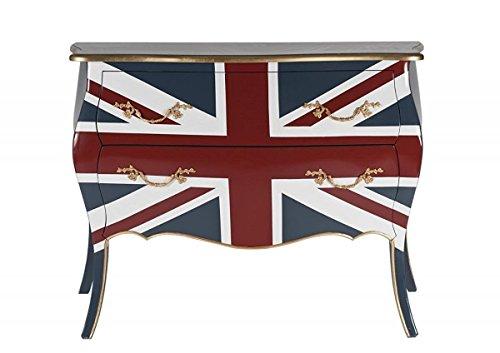 Designer kommode mit 2 schubladen aus mahagoni und mdf for Sessel union jack