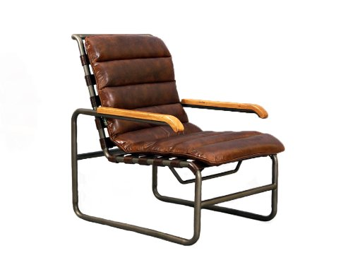 designsessel new brunswick stahlrohr vintage leder echtleder sessel m bel24. Black Bedroom Furniture Sets. Home Design Ideas