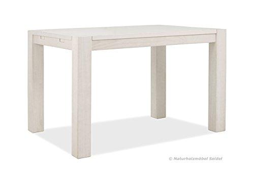 esstisch weiss rio bonito 120x80cm pinie massivholz landhaus tisch farbton white grain. Black Bedroom Furniture Sets. Home Design Ideas