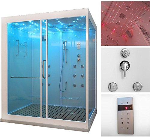 home deluxe design xl duschtempel inkl dampfdusche m bel24. Black Bedroom Furniture Sets. Home Design Ideas