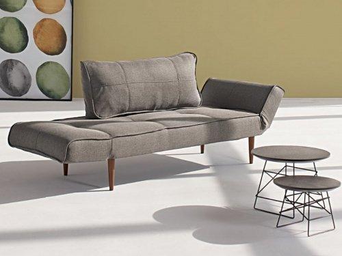 innovation zeal schlafsofa grau mit fu holz dunkel m bel24. Black Bedroom Furniture Sets. Home Design Ideas