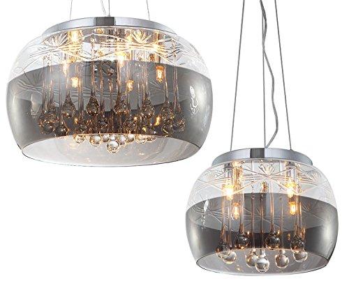 kristall deckenlampe pendelleuchte deckenleuchte h ngeleuchte l ster kronleuchter esszimmer glas. Black Bedroom Furniture Sets. Home Design Ideas