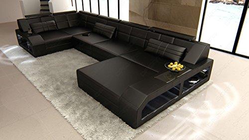 leder wohnlandschaft arezzo u form mit led m bel24. Black Bedroom Furniture Sets. Home Design Ideas