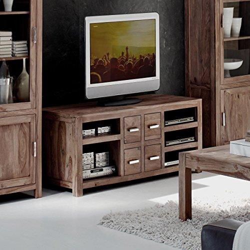 low board aus massivem sheesham holz mit 4 schubladen 148x56 cm miaw designer kommode. Black Bedroom Furniture Sets. Home Design Ideas