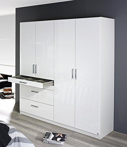 rauch an840 0v0c kleiderschrank homburg 4 t rig b 181 h 197 t 54 cm korpus weiss fronten. Black Bedroom Furniture Sets. Home Design Ideas