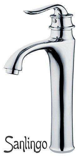 Retro Bad Badezimmer Einhebel Armatur Wasserhahn Waschbecken Waschtisch Chrom Hoch Sanlingo