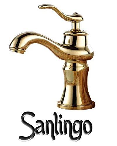 retro bad waschtisch waschbecken einhebel armatur wasserhahn gold sanlingo m bel24. Black Bedroom Furniture Sets. Home Design Ideas