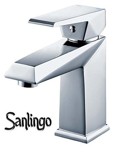 Serie KOSI Design Bad Waschbecken Waschtisch Einhebel Armatur Wasserhahn Chrom Sanlingo