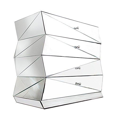 verspiegelte design kommode vision 100 cm sideboard spiegelglas schrank glas glaskommode. Black Bedroom Furniture Sets. Home Design Ideas