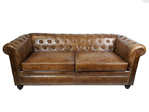 vintage sofa chesterfield leder 2 sitzer m bel24. Black Bedroom Furniture Sets. Home Design Ideas