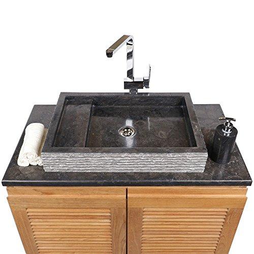 Waschbecken 60 Cm Eckig.Wohnfreuden Marmor Waschbecken 60 Cm Recht Eckig Schwarz Steinwaschbecken Oder Naturstein Waschbecken