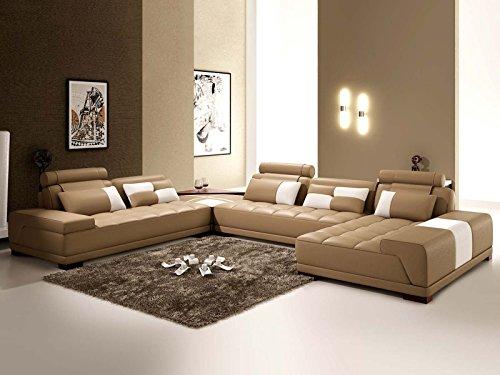 wohnlandschaft xxl leder san remo mit beleuchtung farbwahl teilleder m bel24. Black Bedroom Furniture Sets. Home Design Ideas