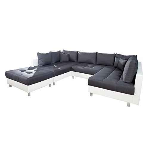 Xxl wohnlandschaft kent 305 cm inklhocker couch sofa for Wohnlandschaft xxxl