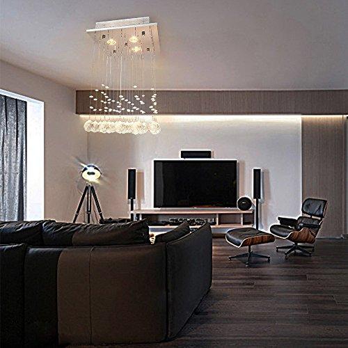 glighone kristall led deckenleuchte kronleuchter modern pendelleuchte anh nger. Black Bedroom Furniture Sets. Home Design Ideas