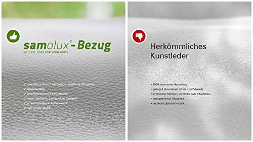 SAM LED-Boxspringbett 180x200 cm Sapri, Kunstleder dunkelbraun, Bonellfederkern-Box, 7-Zonen H2 + H3 Taschenfederkern-Matratzen, Viscoschaum-Topper