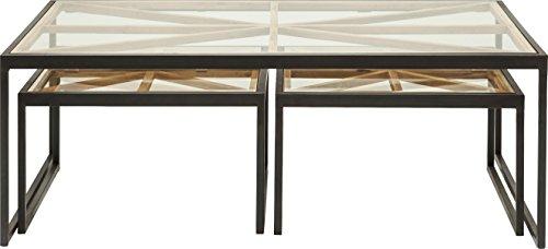 Kare Beam (3/Set) Couchtisch, Andere, Braun, 70 x 110 x 40 cm