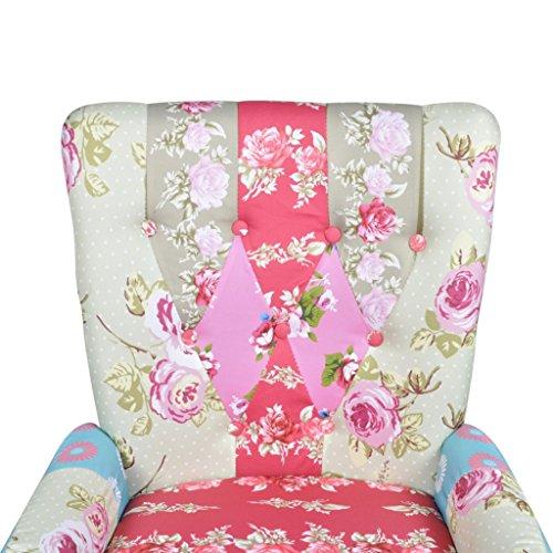 vidaXL Patchwork Relaxsessel Esszimmer Stuhl Polstersessel Sessel Bunt Lehnstuhl 2
