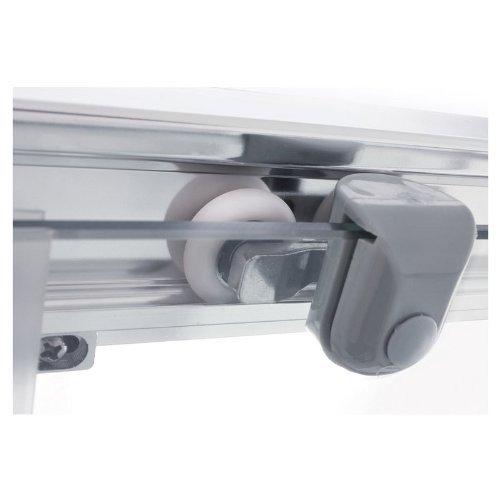 Galdem Duschabtrennung Economy 5 mm Duschkabine Dusche Echtglas Sicherheitsglas Bad Badezimmer (90 x 90 x 190 cm Eckig)