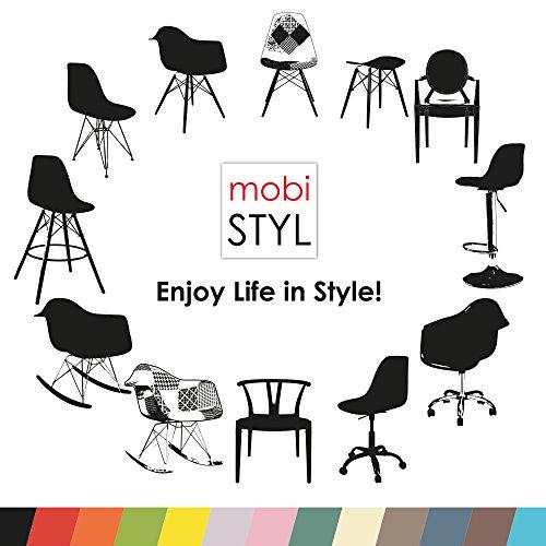 VERKAUF! 1 x Design-Stuhl Eiffel Stil Natural Wood Beine und Sitz Farbe Color Patchwork Mobistyl® DAWL-PC-1