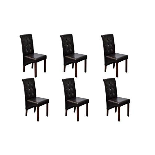 6 st hle stuhlgruppe hochlehner esszimmerst hle essgruppe sitzgruppe braun neu 2 m bel24. Black Bedroom Furniture Sets. Home Design Ideas