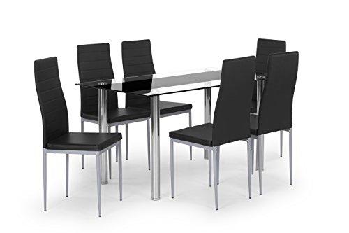 Cavadore 87242 Pegasus Stuhl, Lederimitat, schwarz, 42 x 53.5 x 96.5 cm