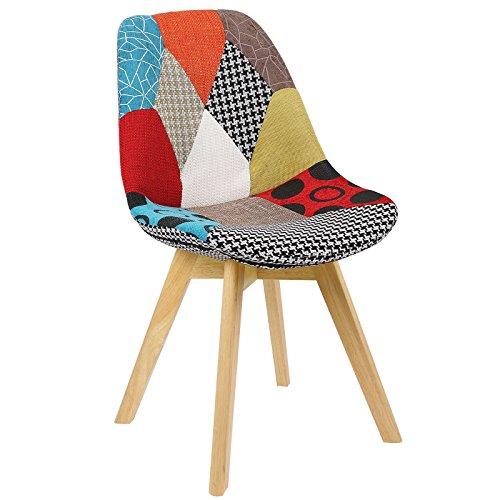 WOLTU BH29mf-2 2 x Esszimmerstühle 2er Set Esszimmerstuhl Design Stuhl Küchenstuhl Holz, Neu Design