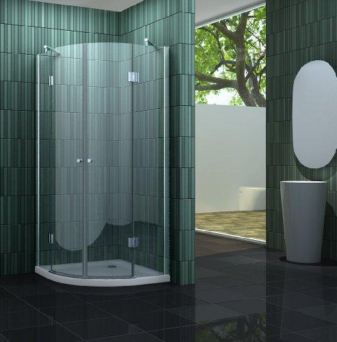 Duschkabine CLARABO 90 x 90 x 180 cm (Viertelkreis) ohne Duschtasse