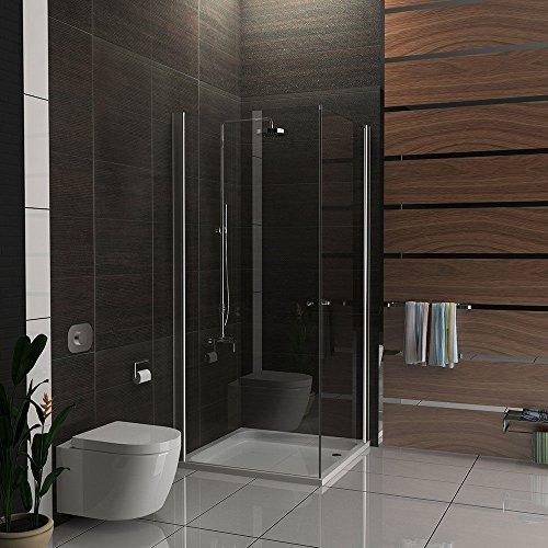 duschkabine aus esg echtglas 90x90 cm mit eckeinstieg und hebe senk mechanismus pendelt r von. Black Bedroom Furniture Sets. Home Design Ideas