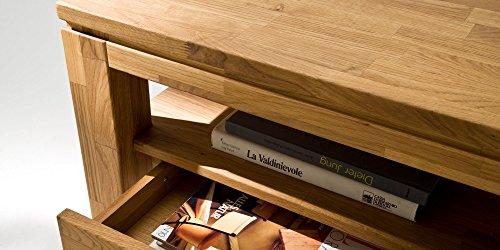 Couchtisch Gordon mit 2 Schubkasten Massivholz Massiv Wohnzimmer Tisch Geölt Asteiche