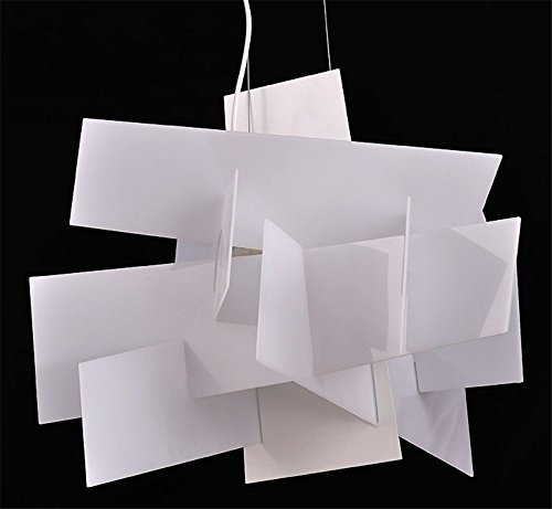 Vi-xixi Moderne Pendelleuchte Design minimalistische Kronleuchter wohnzimmer schlafzimmer Mode Hängelampe Kreative Persönlichkeit weiß Esstisch Höhenverstellbar Beleuchtung, 2 X E27, Ø 65 cm