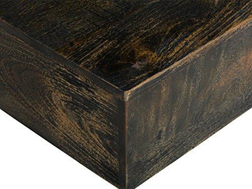 massivum Couchtisch Cube 80x30x80 cm Mango braun lackiert