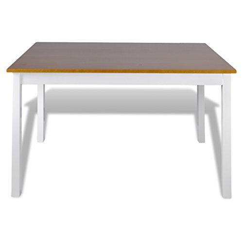 vidaXL Holztisch Esstisch Sitzgruppe Esszimmer Esstischset Tischset Tisch+4 Stühle